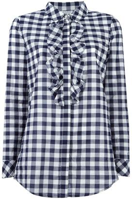 Twin-Set gingham check shirt $95.70 thestylecure.com