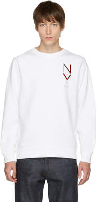 Saturdays NYC White Bowery NY Crewneck Sweater