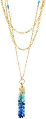 "C. Wonder 30 1/2"" Multi-chain Necklace with Tassel Station"