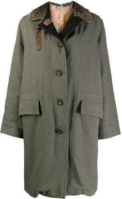 Dusan buttoned parka coat