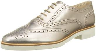 JB Martin Women Lace-Up Flats Gold Size: 39