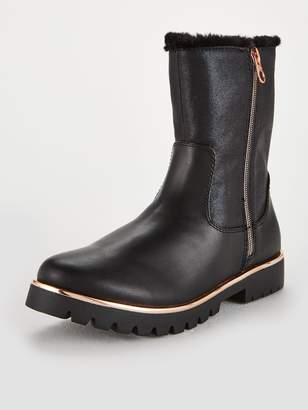 Ted Baker Girls Faux Fur Fold Over Boot