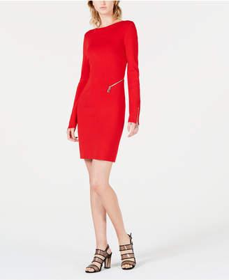 Bar III Open-Back Sweater Dress