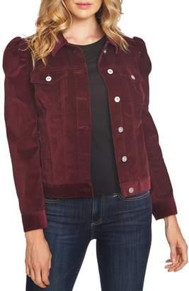 CeCe Puff Sleeve Stretch Cotton Corduroy Jacket