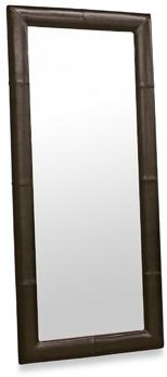 Bed Bath & Beyond Egeus Leather Frame Leaner Mirror - Dark Brown