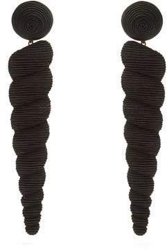 Rebecca De Ravenel - Twisty Large Drop Earrings - Womens - Black