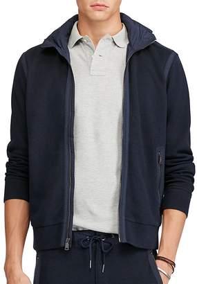 Polo Ralph Lauren Cotton Blend Hooded Track Jacket $198 thestylecure.com