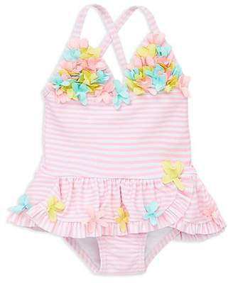 Little Me Girls' 3D-Floral Multi-Pink Swimsuit - Baby