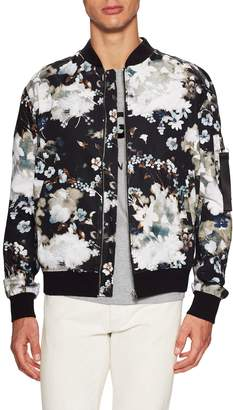 MSGM Men's Floral Printed Bomber Jacket