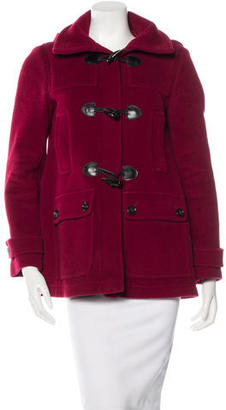 Burberry London Hooded Toggle Closure Coat $325 thestylecure.com