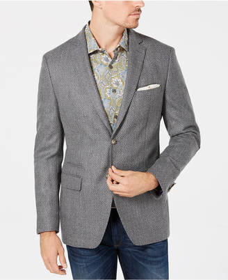 Tallia Orange Men's Slim-Fit Gray Birdseye Wool Sport Coat