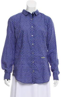 0039 Italy Printed Button Up Top w/ Tags