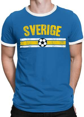 5d64313d8b1 Buzz Shirts Mens Sweden Distressed Country Football T-Shirt World Cup 2018  Retro Sports