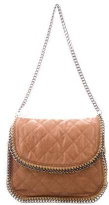 Stella McCartney Quilted Falabella Flap Shoulder Bag brown Quilted Falabella Flap Shoulder Bag