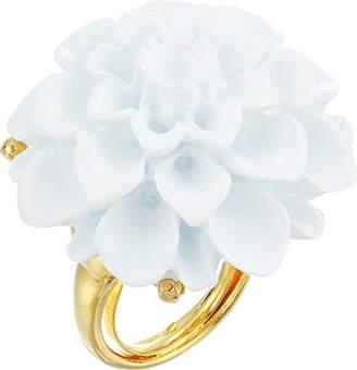 Kenneth Jay Lane Women's Gold/ Flower Ring