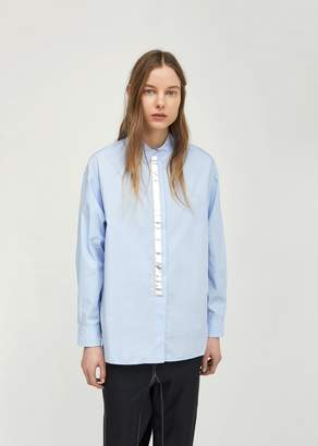 Paco Rabanne Long Cotton Shirt Baby Blue