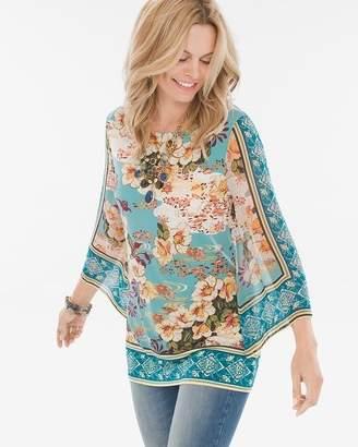 Floral Kimono-Sleeve Top