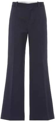 See by Chloe Flared cotton-blend pants