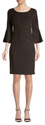 Calvin Klein Petite Tonal Bell-Sleeve Dress