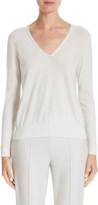 Akris Cashmere & Silk Blend Metallic Sweater