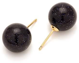 Gorjana Newport Blue Sandstone Ball Stud Earrings