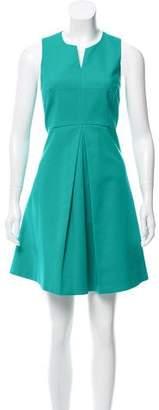Halston Sleeveless Pleated Dress