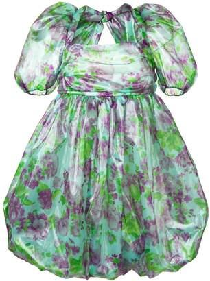 VIVETTA floral print puff dress