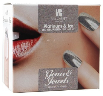 Red Carpet Manicure Gems & Jewels Nail Art Kit Platinum & Ice