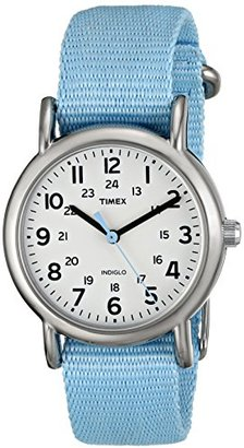 Timex Women's T2P0759J Weekender Pastel Blue Slip Thru Nylon Strap Watch $47.49 thestylecure.com