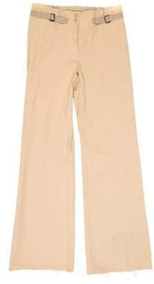 Plein Sud Jeans High-Rise Wide-Leg Pants Tan High-Rise Wide-Leg Pants