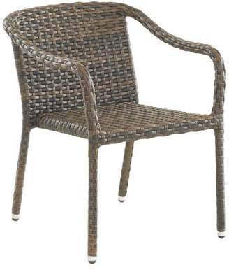 Pottery Barn Abrego All-Weather Wicker Stacking Dining Chair - Set of 4