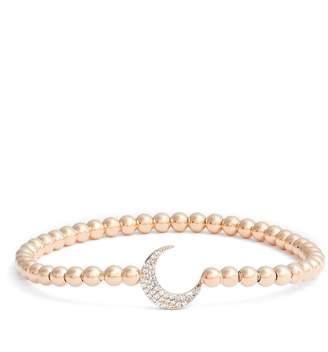 Nadri Cubic Zirconia Crescent Moon Circle Bracelet