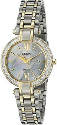 Seiko Women's SUT198 Analog Display Analog Quartz Two Tone Watch $475 thestylecure.com