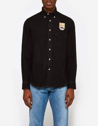 Gitman Brothers Flannel Shirt in Black