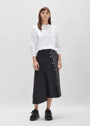 Aalto Cupro Wool Skirt Bi Material Stripes