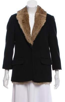 Elizabeth and James Fur Short Coat