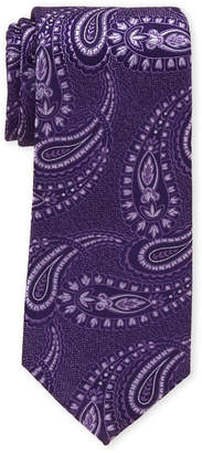Perry Ellis Portfolio Purple Paisley Silk Tie