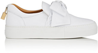 Buscemi Women's 40MM Bow Leather Sneakers $675 thestylecure.com