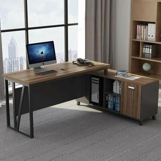 Williston Forge Pillager L-Shaped Computer Desk Williston Forge