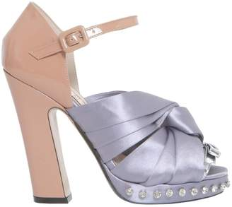 N°21 Satin Knotted Sandals