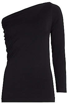 Helmut Lang Women's One-Shoulder Long Sleeve Seamless Top