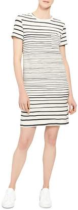 Theory Striped T-Shirt Dress