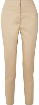 The Row Vivienne Cotton-blend Poplin Straight-leg Pants