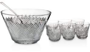 Waterford House of Crystal Alana 60th Anniversary Punch Bowl Set