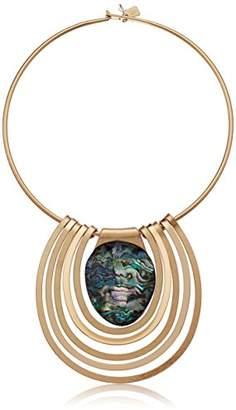 Robert Lee Morris Midnight Hour Gold Statement Round Wire Necklace