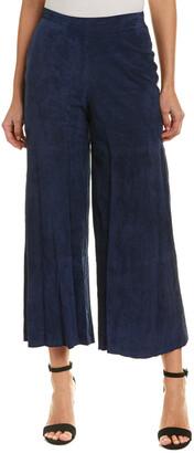 Haute Hippie Wide Leg Suede-Blend Pant