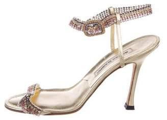 Manolo Blahnik Embellished Buckle Sandals