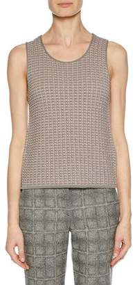 Giorgio Armani Scoop-Neck Sleeveless Wool Knit Shell