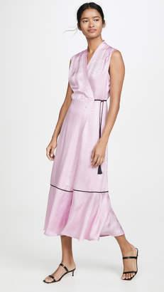 Veda Bluebonnet Silk Wrap Dress
