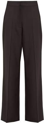 Stella McCartney Satin-striped wide-leg wool trousers